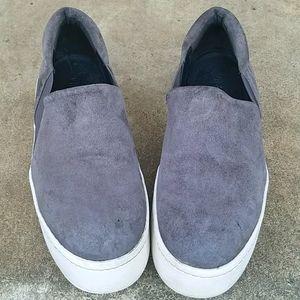 Vince Suede slip-on platform sneaker
